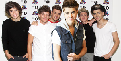 one direction and justin bieber mtv vmas