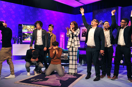 one direction lose a dance off to alan carr