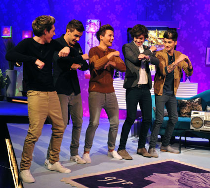 one direction dance off on alan carr
