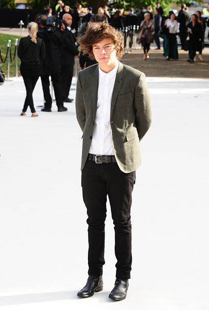 harry styles london fashion week 2012