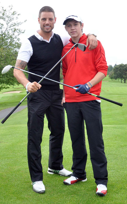 keith duffy from boyzone with niall horan from one direction