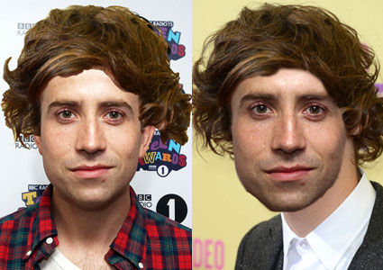 nick grimshaw with harry styles hair