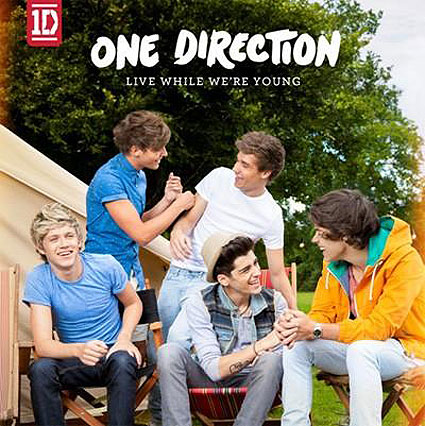 one direction live while we're young single cover artwork lwwy