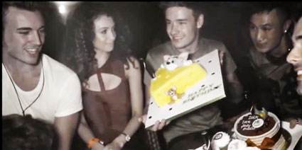 liam payne and danielle peaer in funky buddha