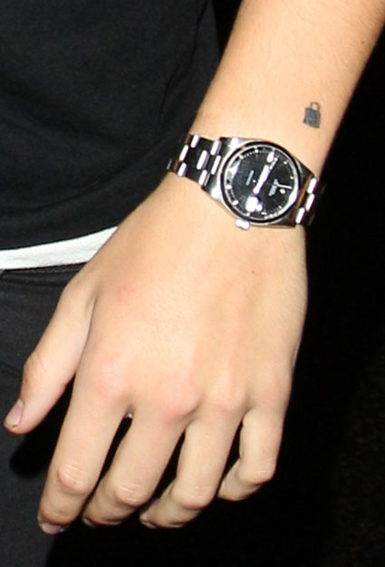 Harry Styles' padlock tattoo