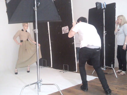 little mix's perrie edwards behind the scenes of fiasco magazine shoot