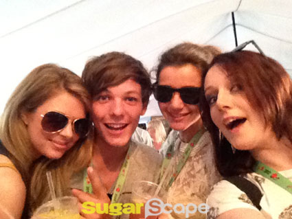 louis tomlinson and eleanor calder at v festival with sugarscape