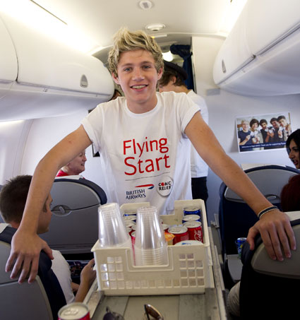 niall horan on flying start plane