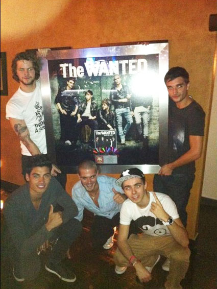 the wanted triple platinum plaque for glad you came
