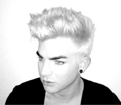 Adam Lambert dyres his hair BLONDE