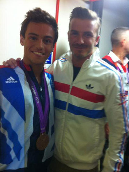 David Beckham texted Tom Daley to give him advice for the Olympics