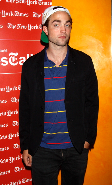 Robert Pattinson with his flies down promoting Cosmopolis - PICS