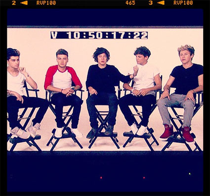 One Direction film first video for first single off the new album, Live While We're Young