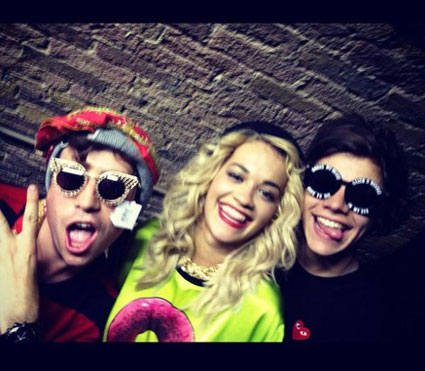 Harry Styles hangs out with Nick Grimshaw at Rita Ora's show at G-A-Y - PICS