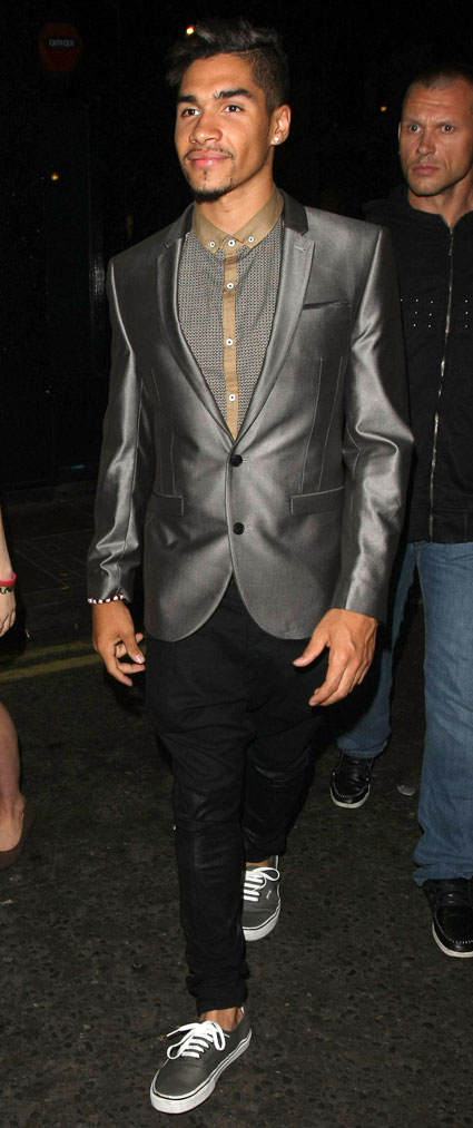 Louis Smith leaving the rose club with his beard