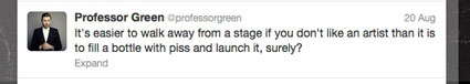 professor green defends cher lloyd on twitter