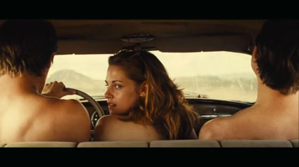 Kristen Stewart in on the road trailer