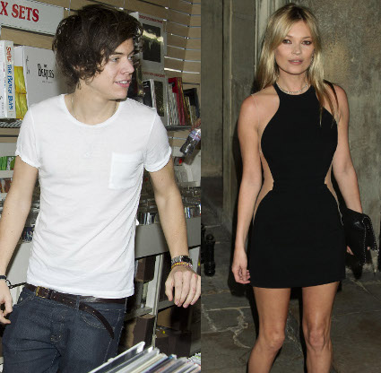 Harry Styles and Kate Moss get cosy at Nick grimshaw's birthday party