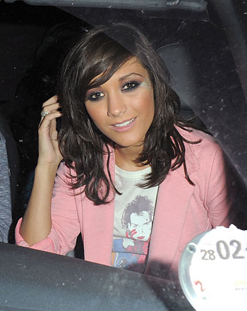 Frankie was papped as she left a Saturdays gig in Reading in a car driven by