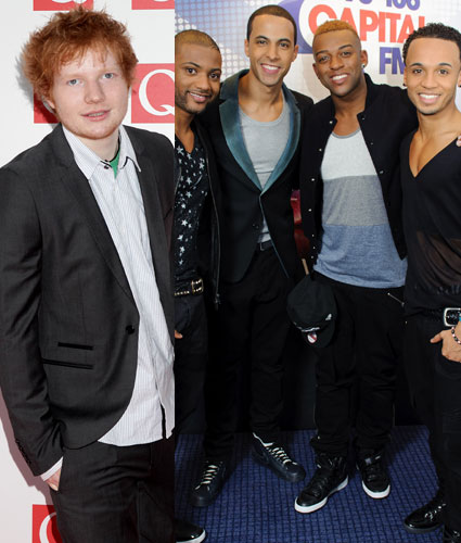 Ed Sheeran and JLS collaboration