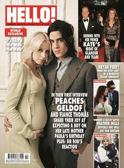Peaches Geldof and Thomas Cohen on the cover of Hello!
