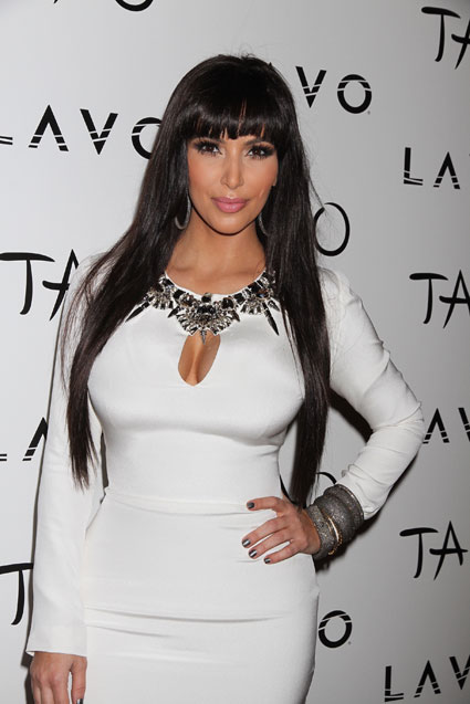 kim kardashian on new year's eve with a fringe