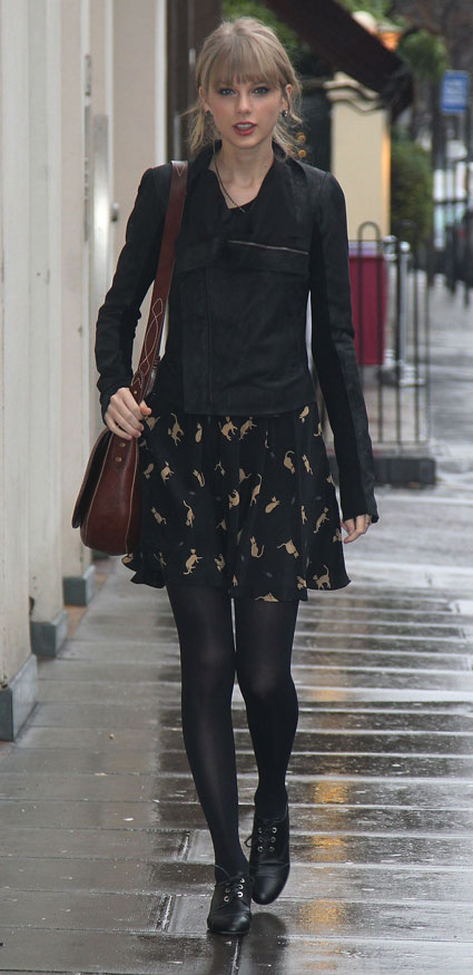 taylor swifts silk cat print dress from hobbs