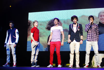 One Direction on tour in London