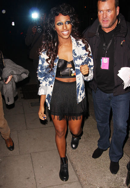 Alexandra Burke at tickled pink