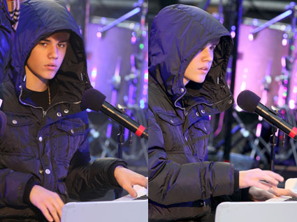 Justin Bieber rehearsing for Dick Clark's New Years Rockin Eve 2011 / 2012