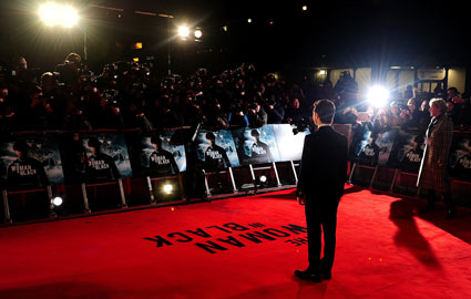 Daniel Radcliffe at premiere of Woman In Black in London