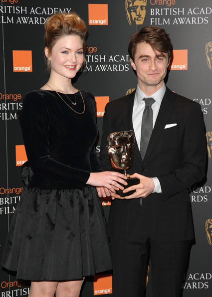 Daniel Radcliffe & Holliday Grainger at the BAFTA nominations ceremony