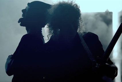 Dappy and Brian May from Rockstar video