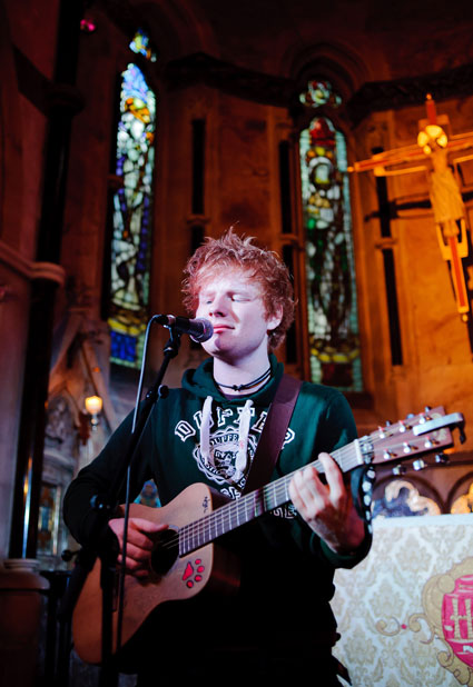 Ed Sheeran performing live
