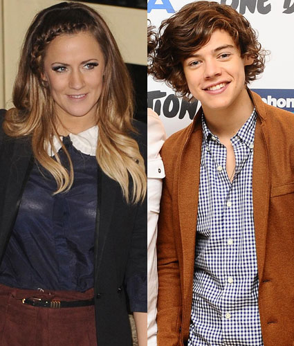Caroline Flack and ex-boyfriend Harry Styles