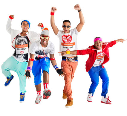 JLS pose for Sport Relief charity single Proud