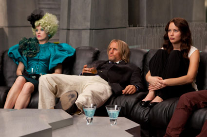 Katniss, Effie and Haymitch in The Hunger Games still