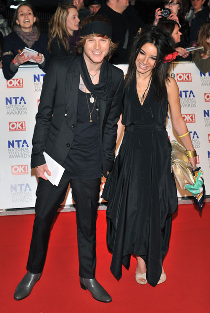 Dougie Poynter and girlfriend Lara Carew Jones at National TV Awards 2012