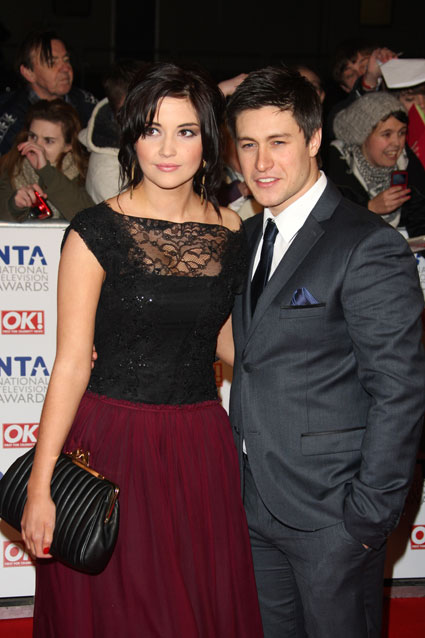 EastEnder's Tony Discipline and girlfriend Jacqueline Jossa at National Television Awards 2012
