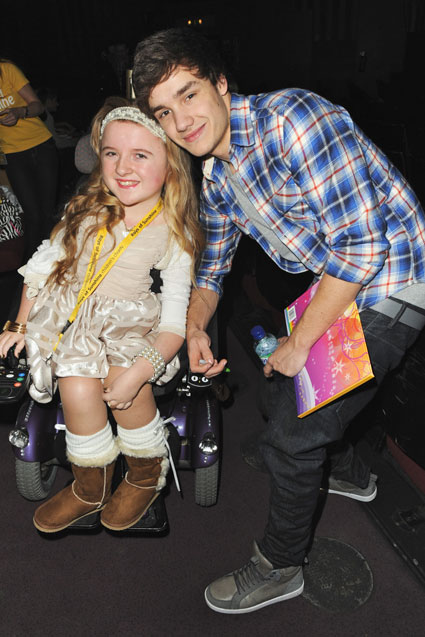 One Direction visiting children at Rays of Sunshine charity