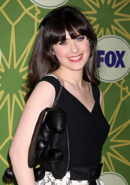 Zooey Deschanel at fox 2012 all star winter party