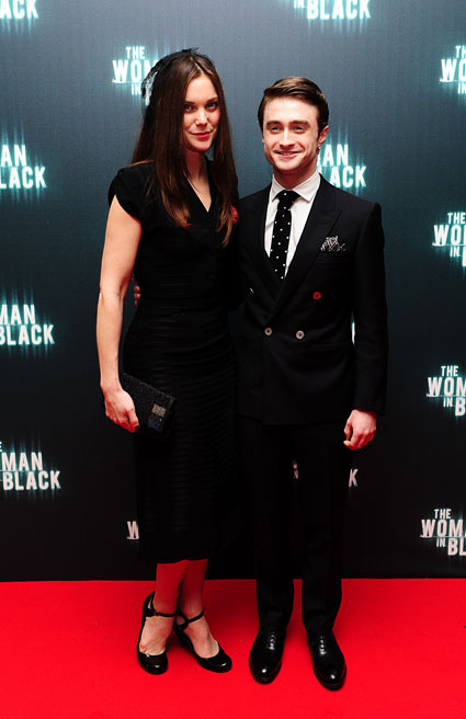 Daniel Radcliffe and Liz White at woman In black premiere London