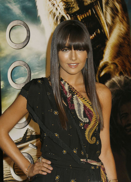Camilla with long locks and block fringe!