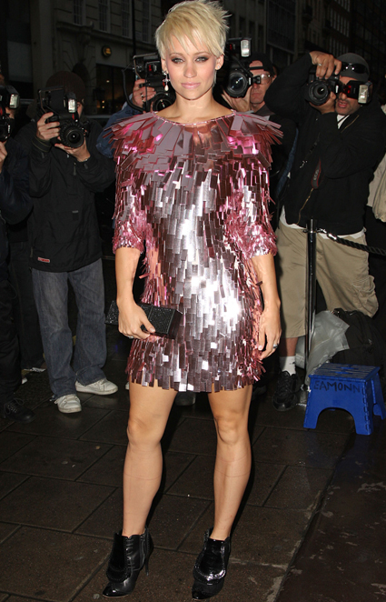disco style dress and boots