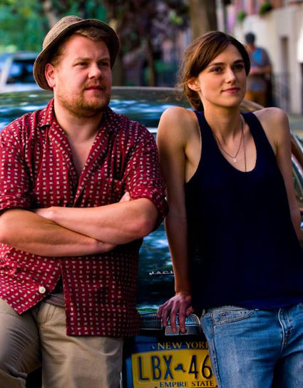 James Corden and Keira Knightley in Begin Again - James Corden and Keira Knightley images - sugarscape.com