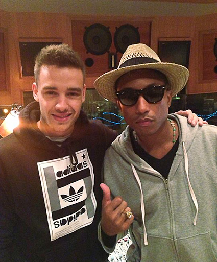 Liam Payne and Pharell Williams - Liam Payne and Pharrell Williams images - sugarscape.com