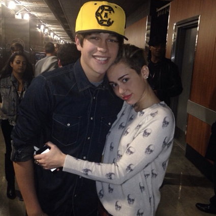 Miley Cyrus and Austin Mahone - Miley Cyrus and Austin Mahone images - sugarscape.com