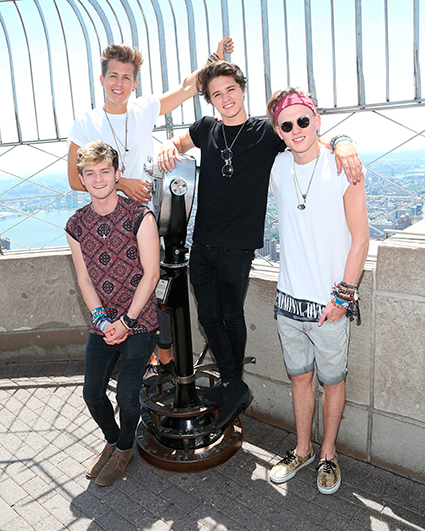 The Vamps on the Empire State Building - The Vamps images - sugarscape.com